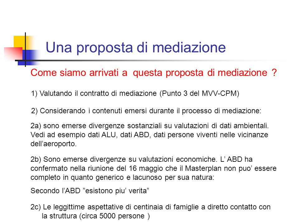 Una proposta di mediazione