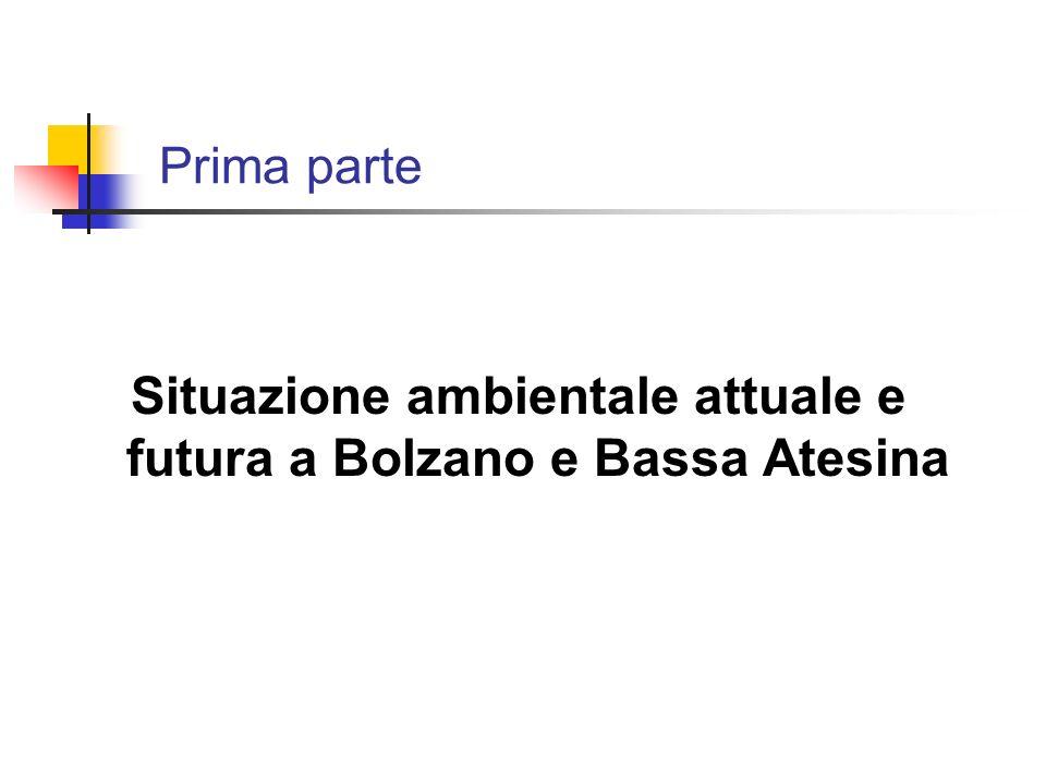 Situazione ambientale attuale e futura a Bolzano e Bassa Atesina