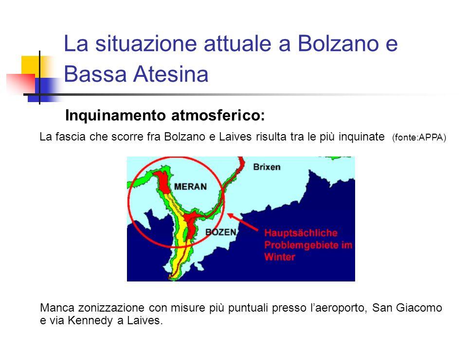 La situazione attuale a Bolzano e Bassa Atesina