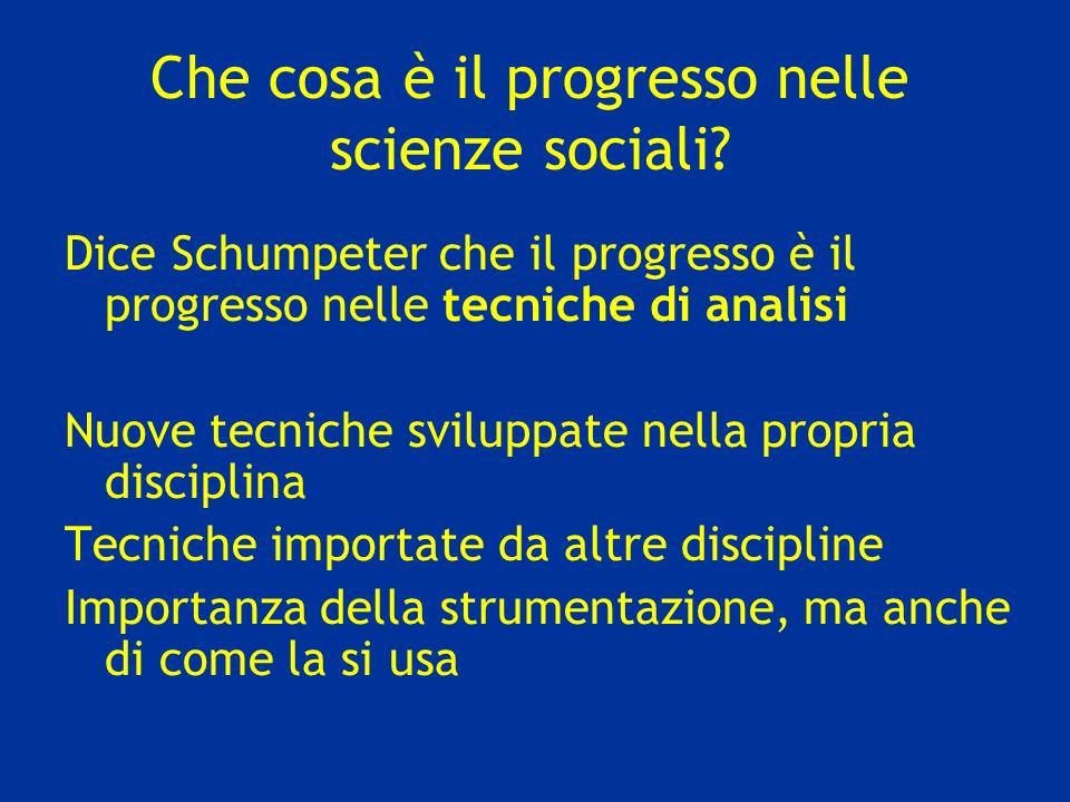 Che cosa è il progresso nelle scienze sociali