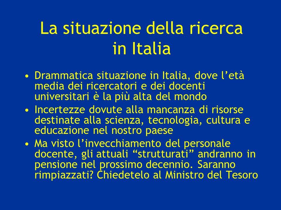 La situazione della ricerca in Italia