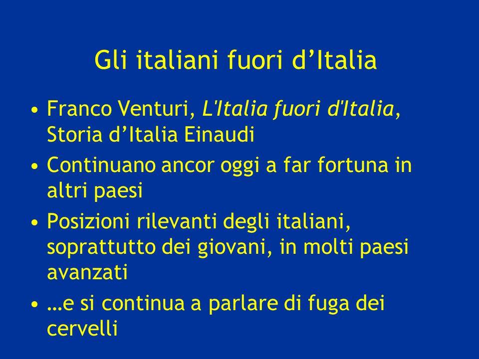 Gli italiani fuori d'Italia