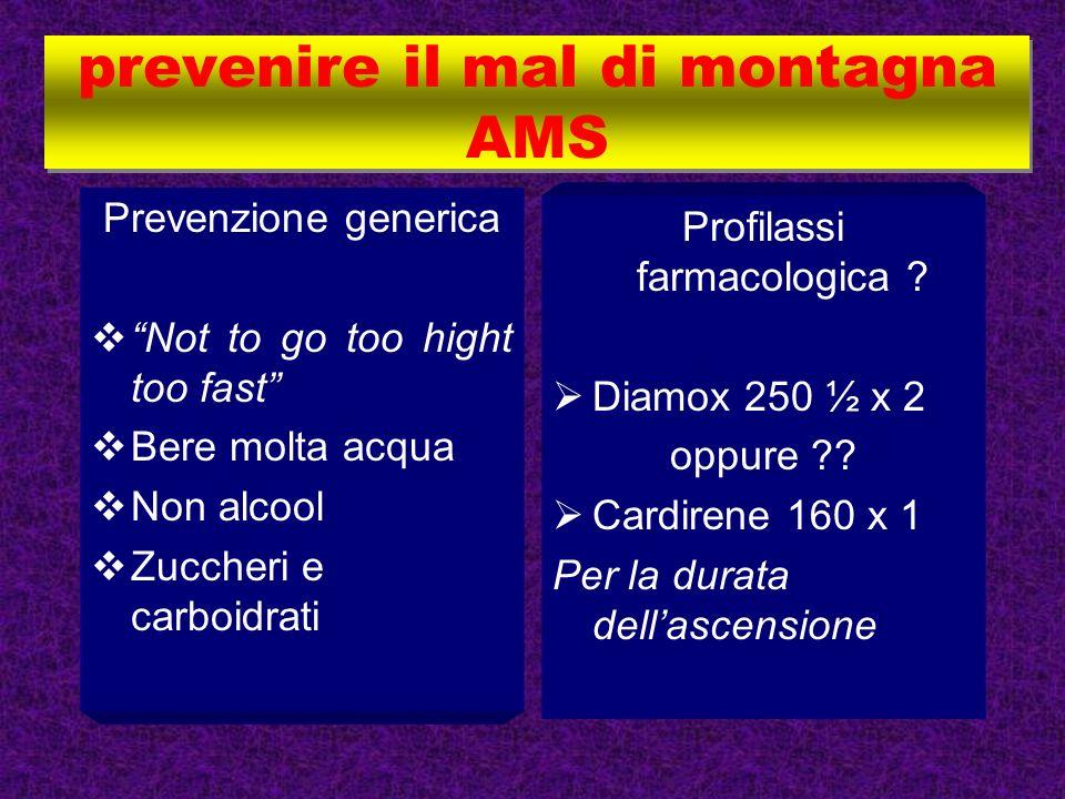 prevenire il mal di montagna AMS