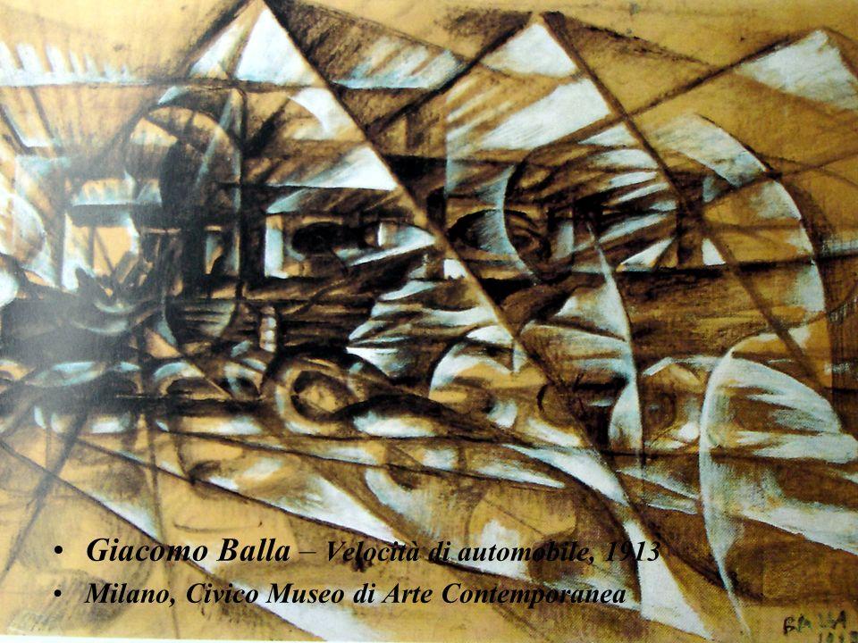 Giacomo Balla – Velocità di automobile, 1913