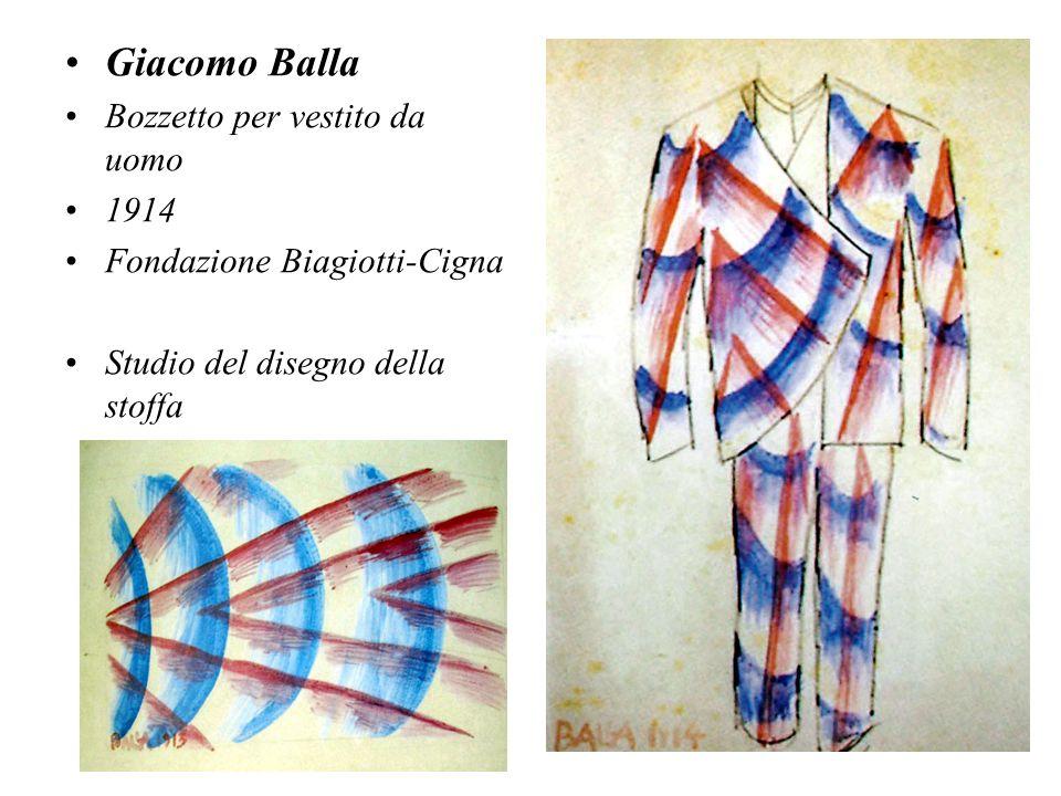 Giacomo Balla Bozzetto per vestito da uomo 1914