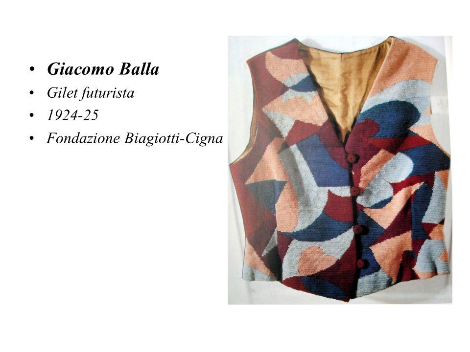 Giacomo Balla Gilet futurista 1924-25 Fondazione Biagiotti-Cigna