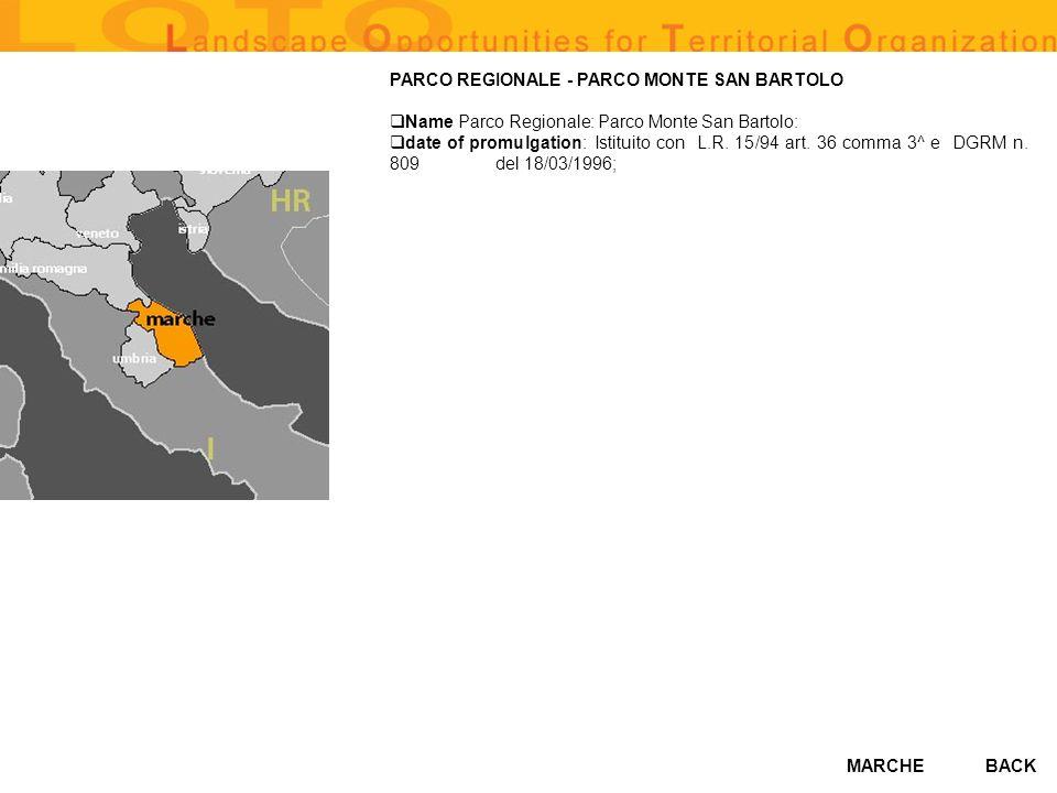 PARCO REGIONALE - PARCO MONTE SAN BARTOLO