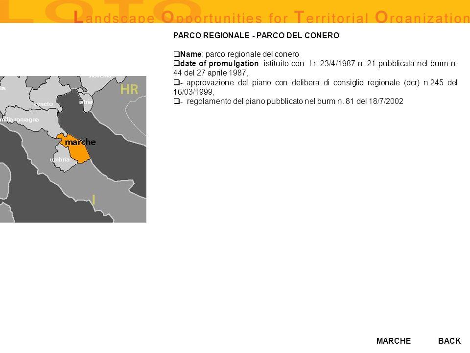 PARCO REGIONALE - PARCO DEL CONERO