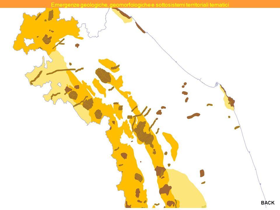 Emergenze geologiche, geomorfologiche e sottosistemi territoriali tematici