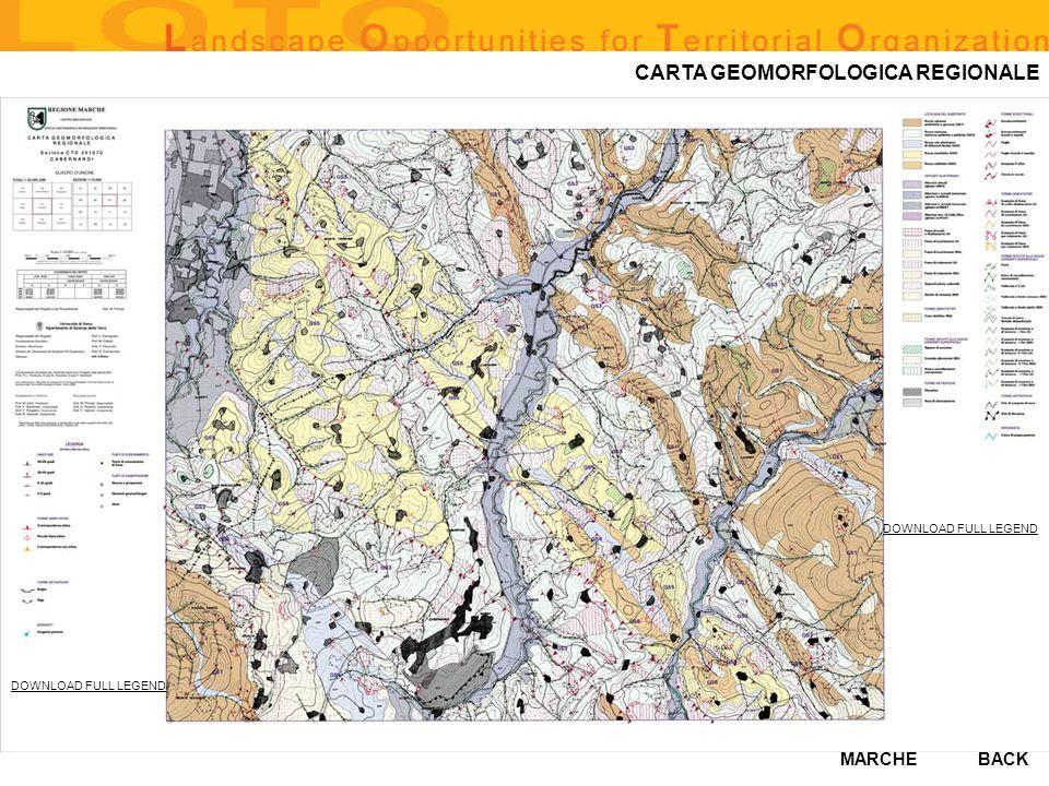 CARTA GEOMORFOLOGICA REGIONALE