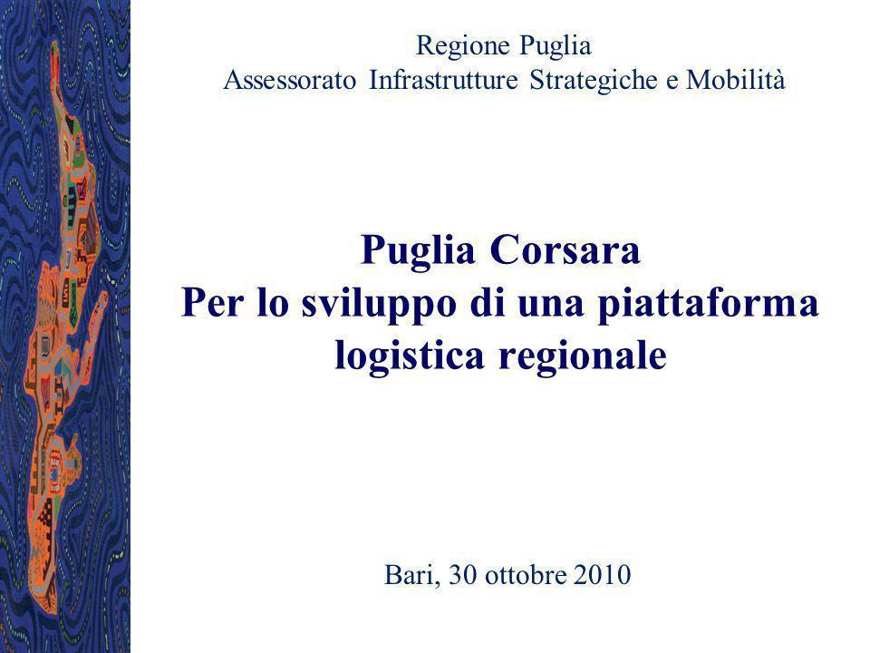 Puglia Corsara Per lo sviluppo di una piattaforma logistica regionale