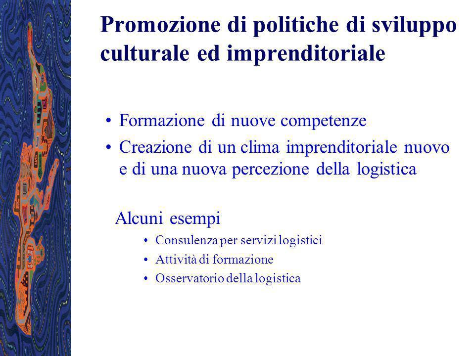 Promozione di politiche di sviluppo culturale ed imprenditoriale