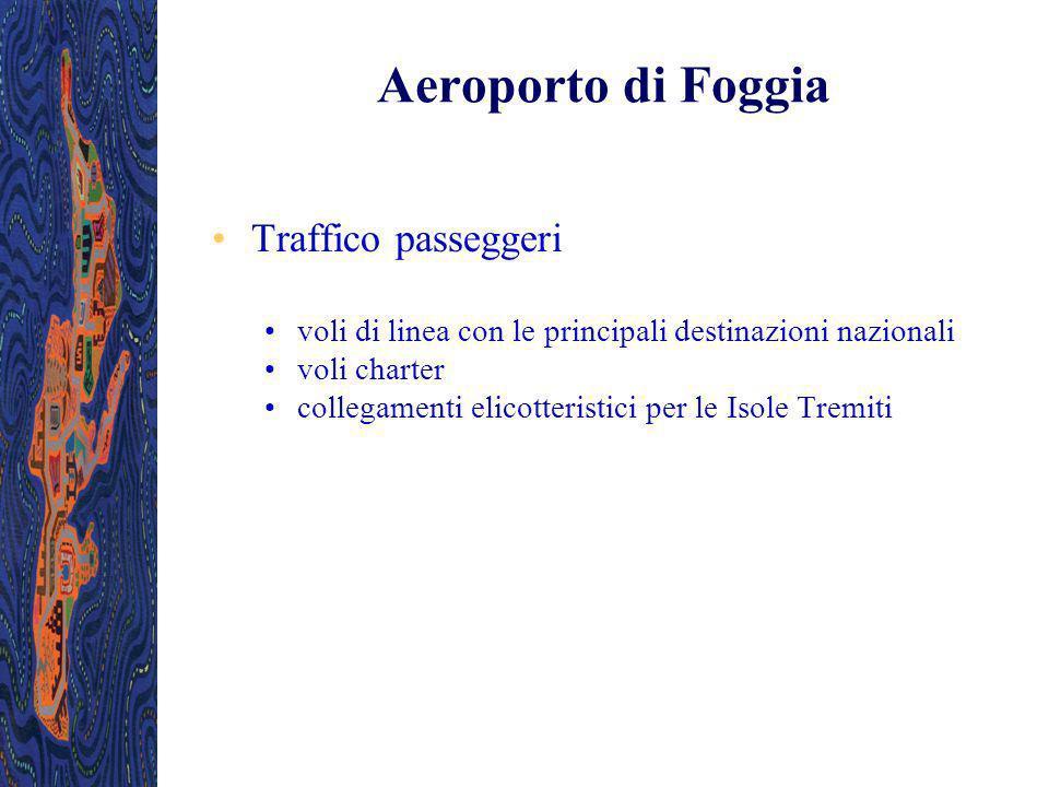 Aeroporto di Foggia Traffico passeggeri