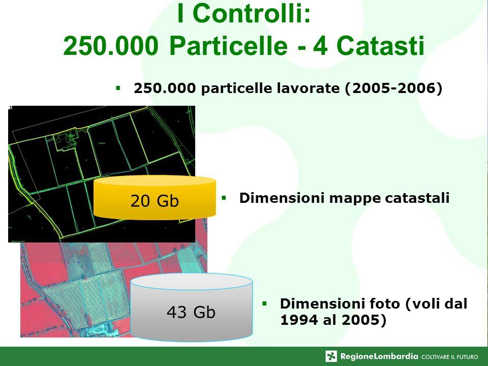 I Controlli: 250.000 Particelle - 4 Catasti