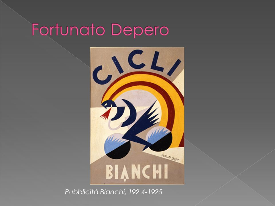 Fortunato Depero Pubblicità Bianchi, 192 4-1925