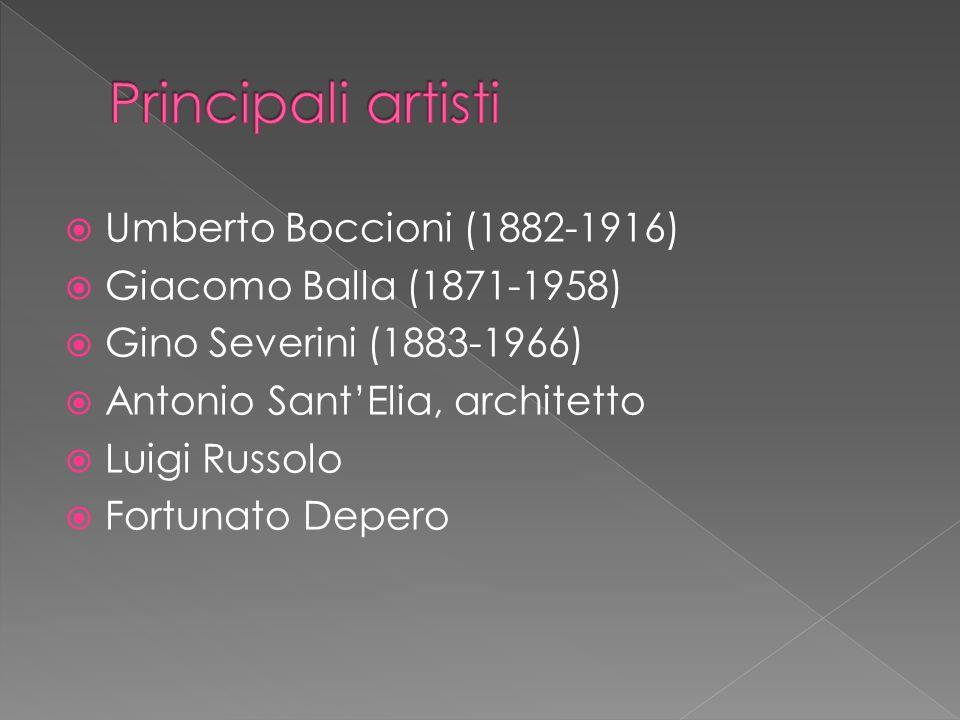 Principali artisti Umberto Boccioni (1882-1916)