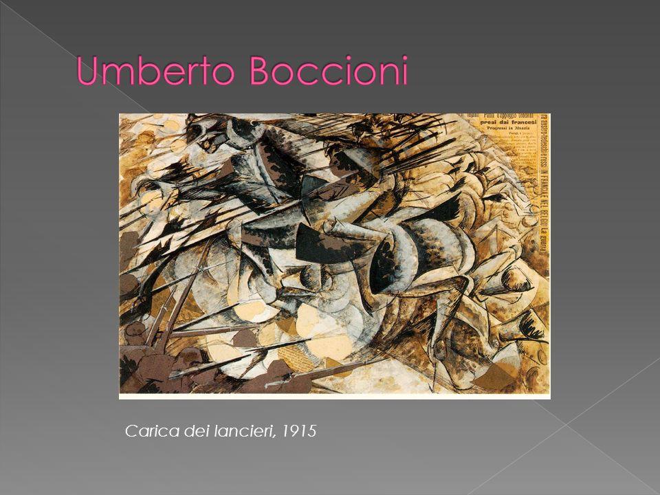 Umberto Boccioni Carica dei lancieri, 1915