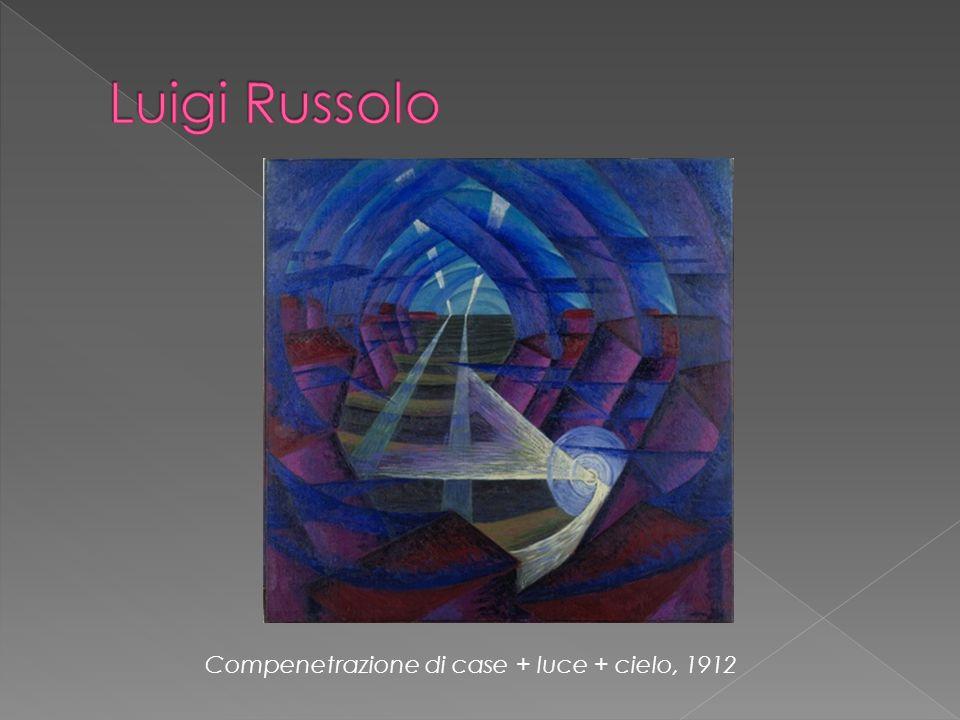 Luigi Russolo Compenetrazione di case + luce + cielo, 1912