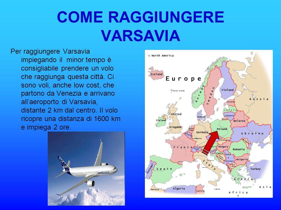 COME RAGGIUNGERE VARSAVIA
