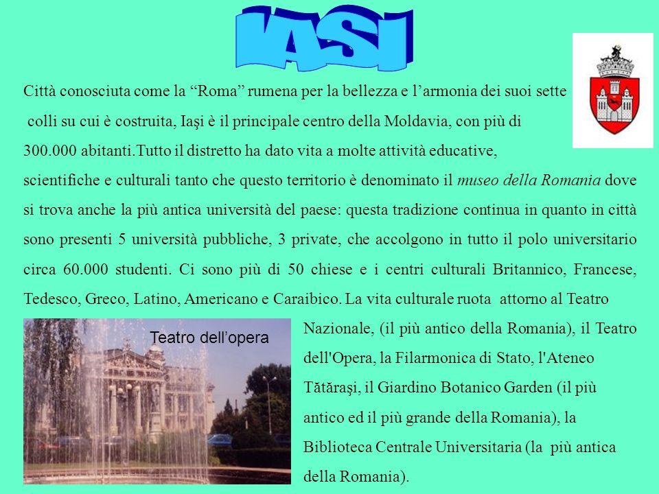 IASI Città conosciuta come la Roma rumena per la bellezza e l'armonia dei suoi sette.