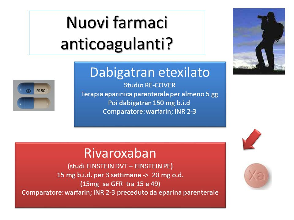 Nuovi farmaci anticoagulanti