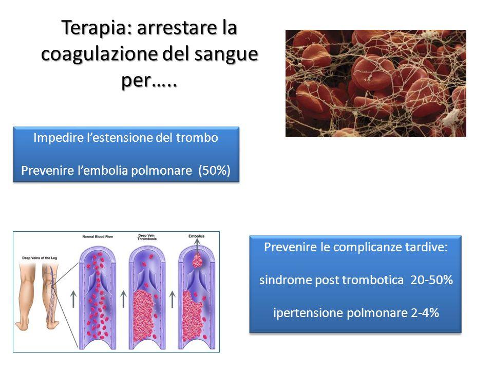 Terapia: arrestare la coagulazione del sangue per…..