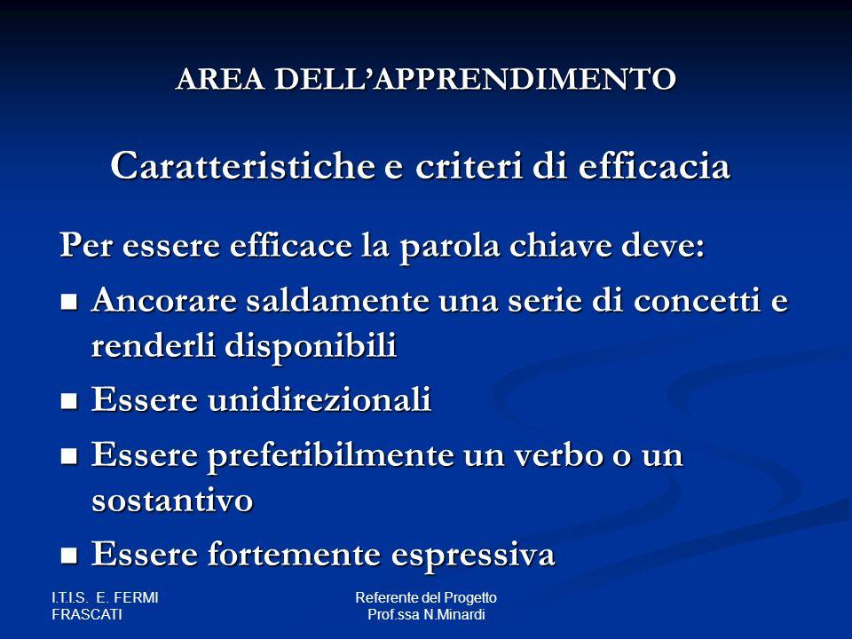 Caratteristiche e criteri di efficacia