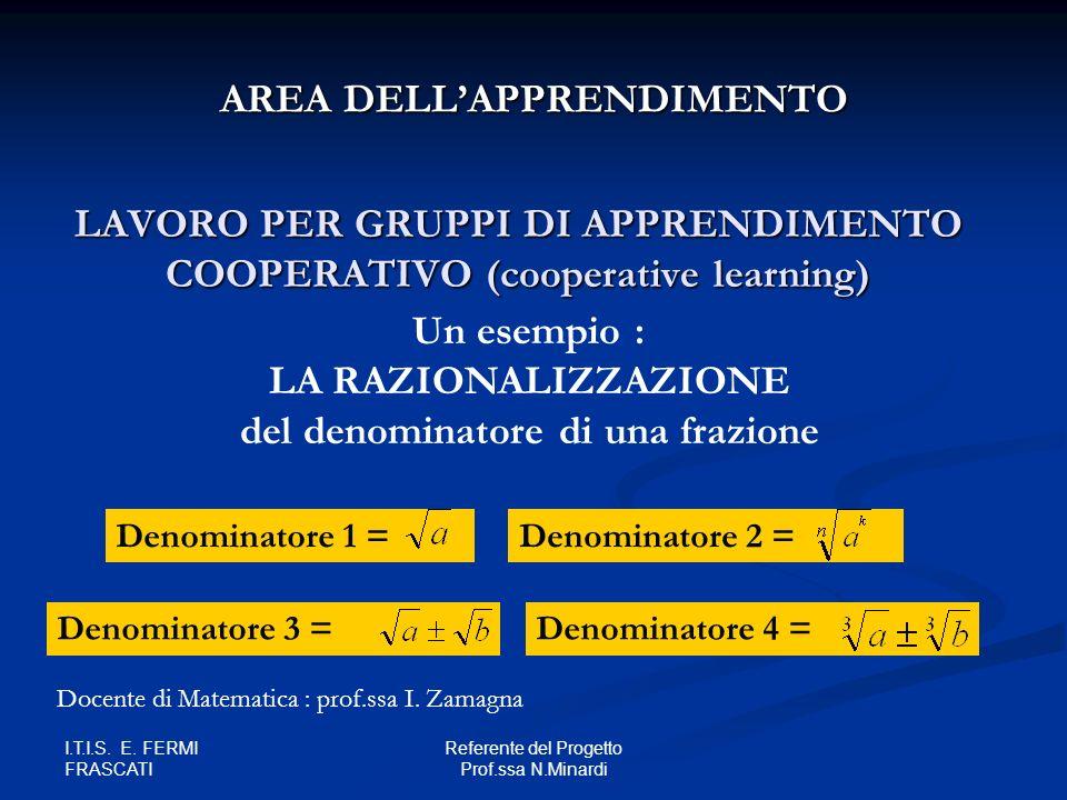 LAVORO PER GRUPPI DI APPRENDIMENTO COOPERATIVO (cooperative learning)