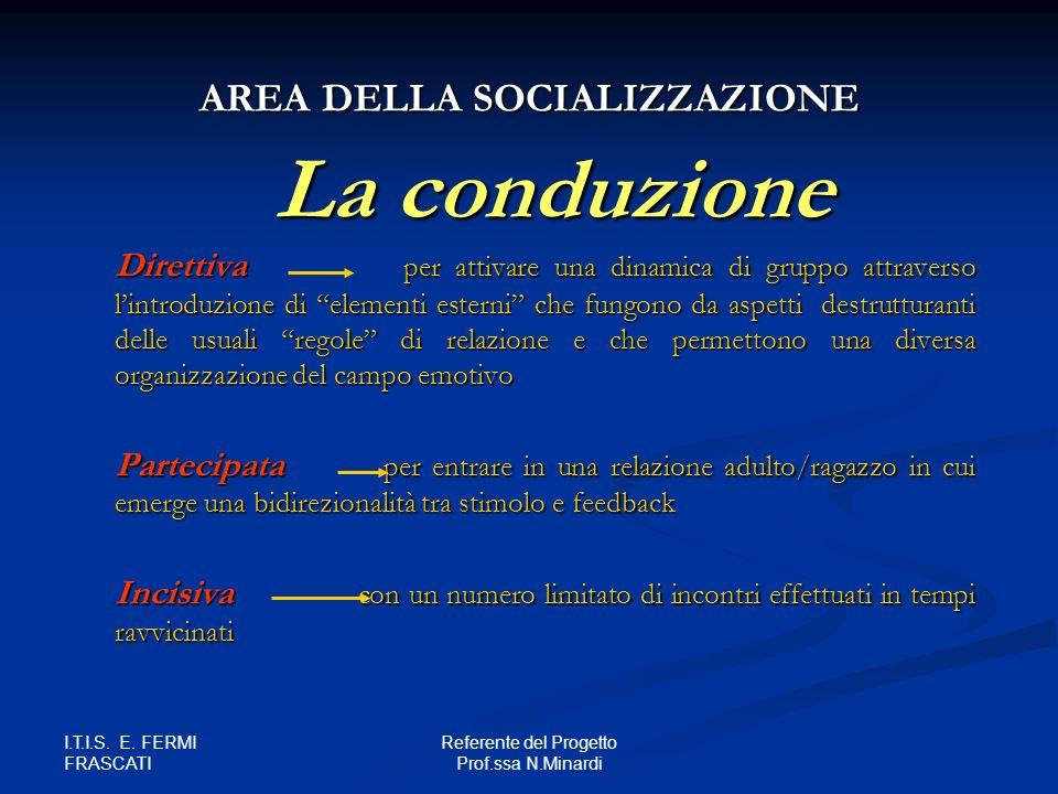 AREA DELLA SOCIALIZZAZIONE