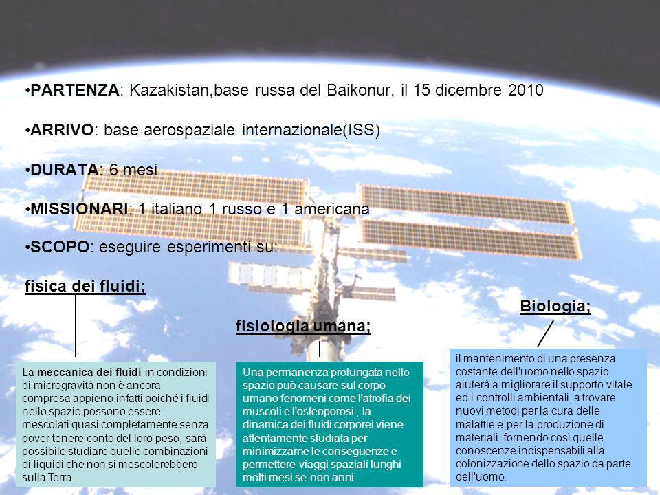 PARTENZA: Kazakistan,base russa del Baikonur, il 15 dicembre 2010