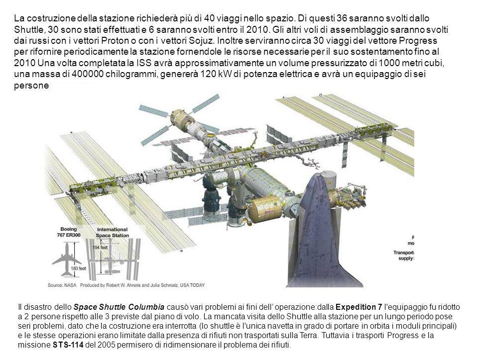 La costruzione della stazione richiederà più di 40 viaggi nello spazio