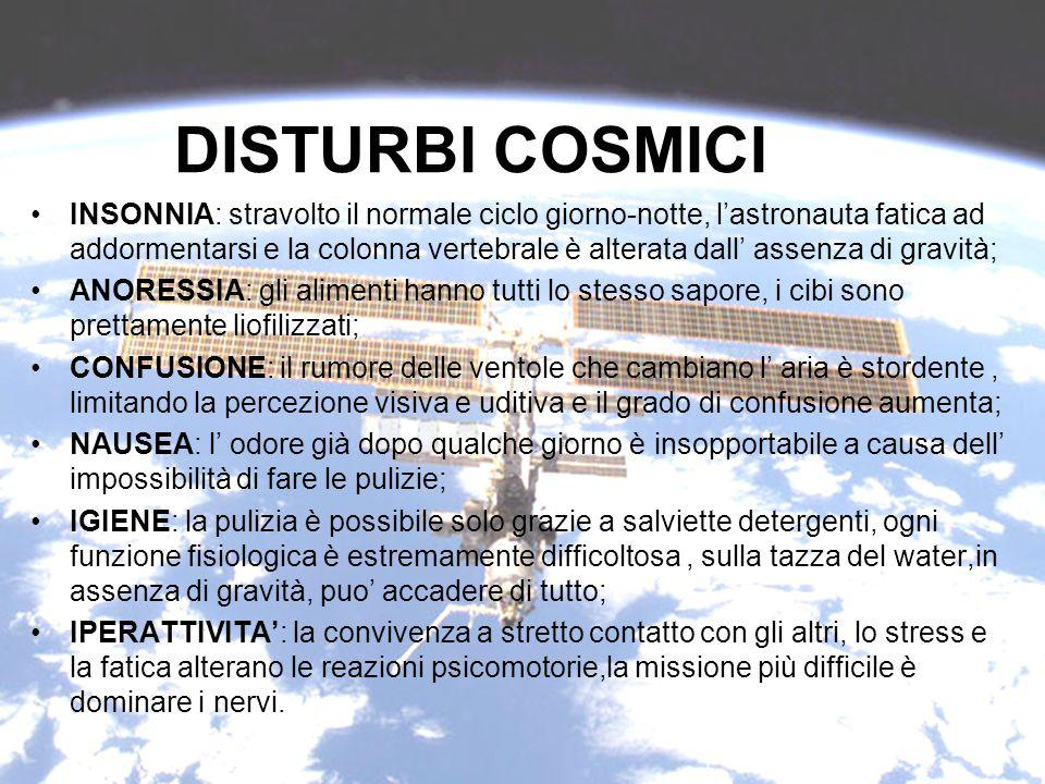DISTURBI COSMICI
