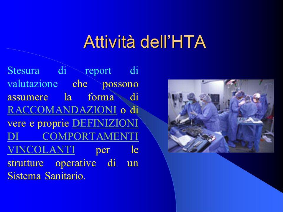 Attività dell'HTA