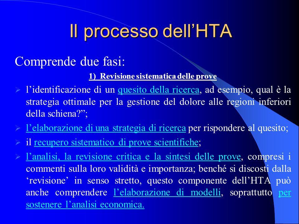 1) Revisione sistematica delle prove