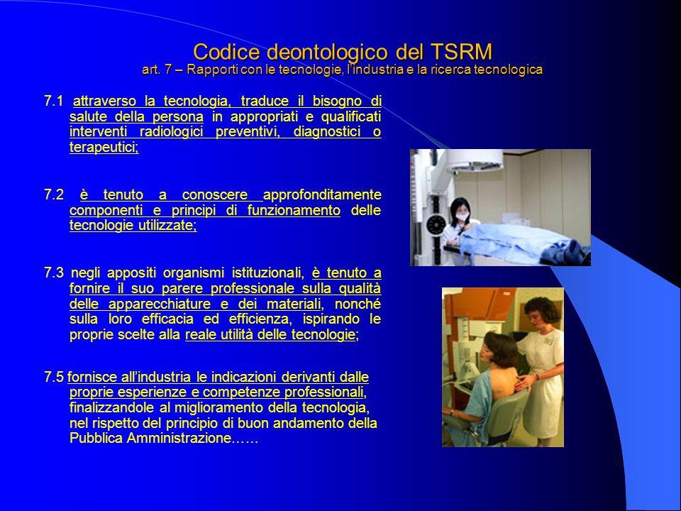 Codice deontologico del TSRM art