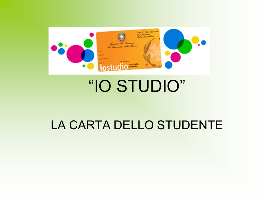 LA CARTA DELLO STUDENTE