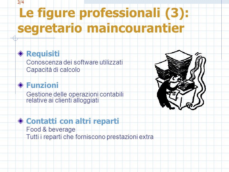 3/4 Le figure professionali (3): segretario maincourantier