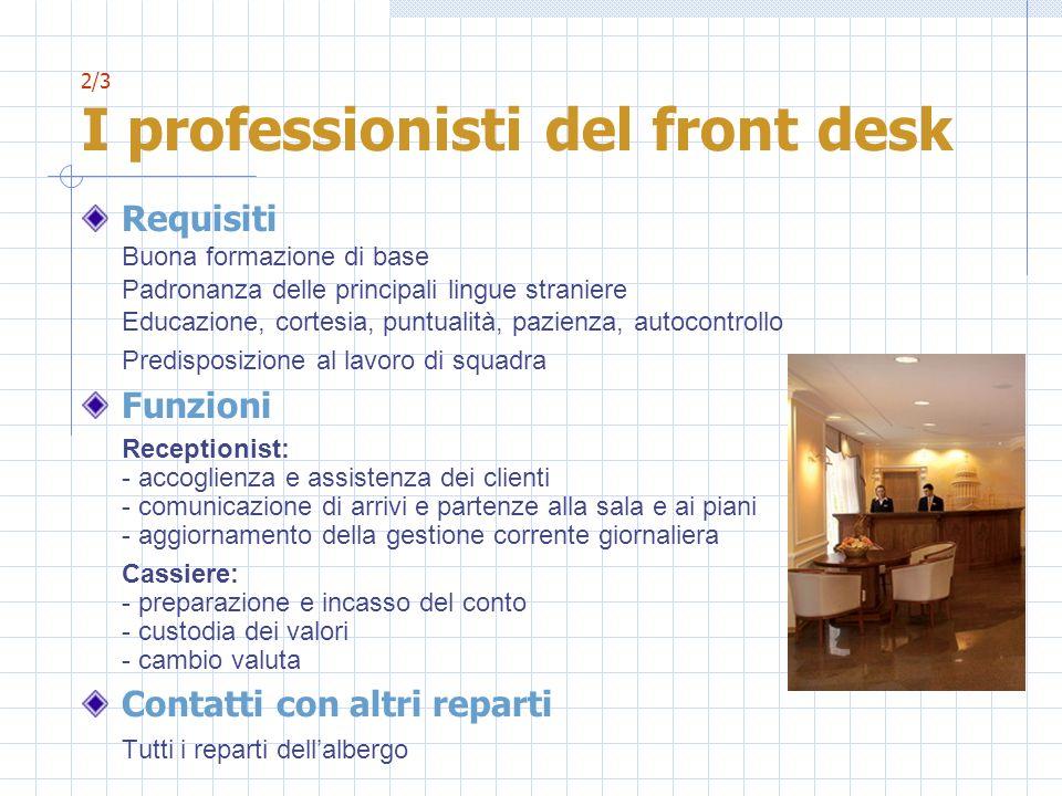 2/3 I professionisti del front desk