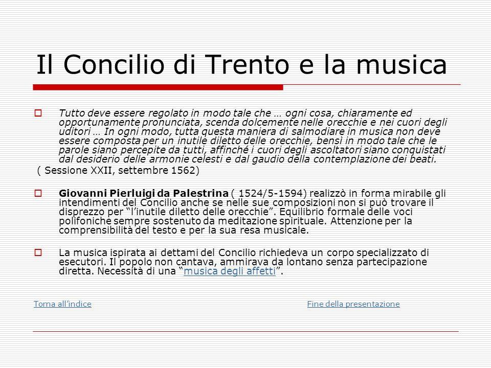 Il Concilio di Trento e la musica