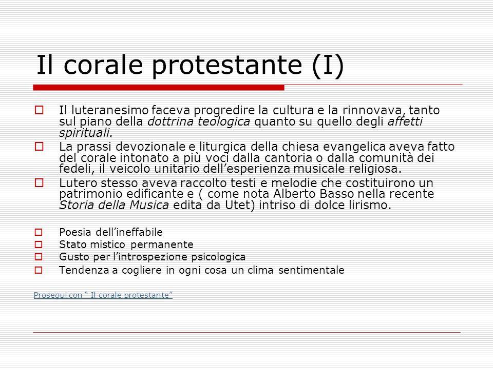 Il corale protestante (I)