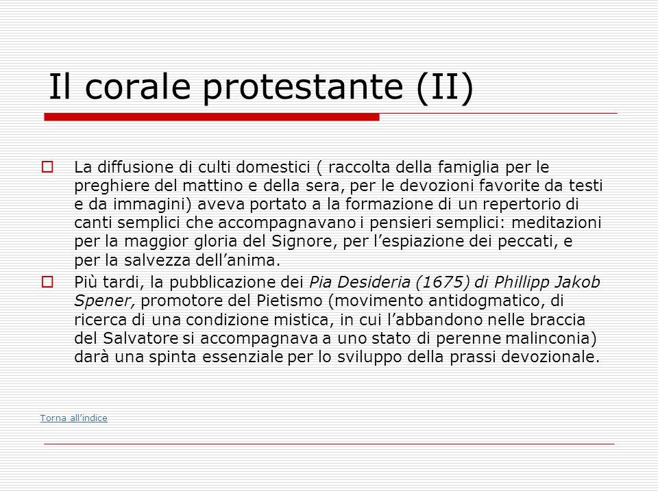 Il corale protestante (II)