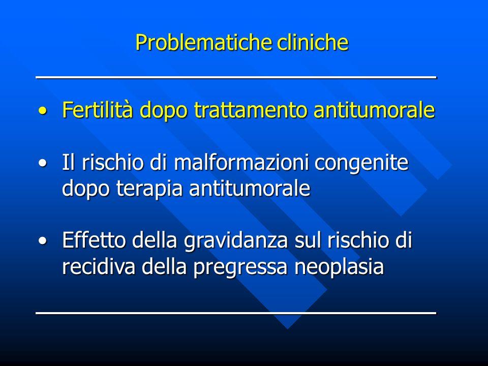 Problematiche cliniche