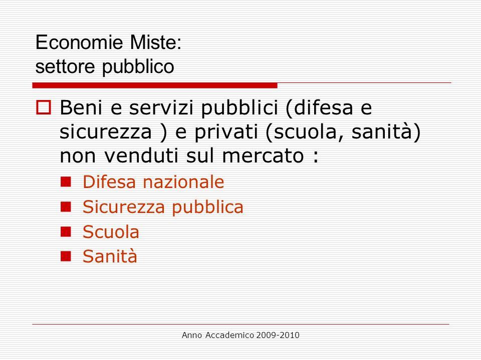 Economie Miste: settore pubblico