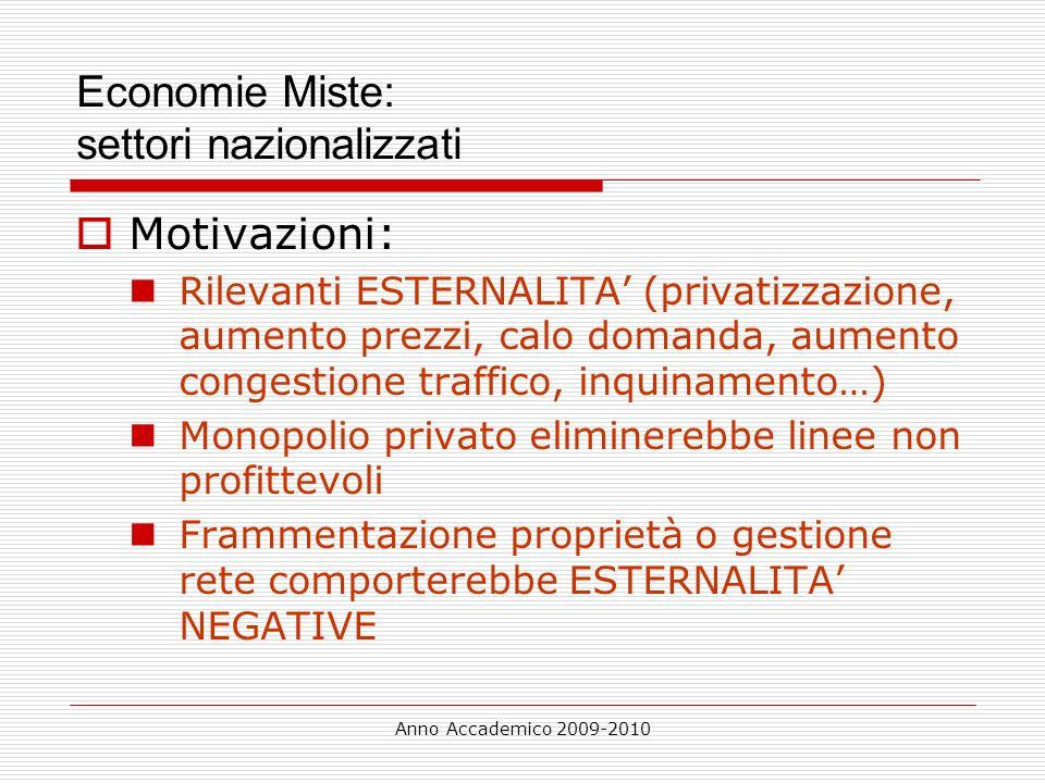 Economie Miste: settori nazionalizzati