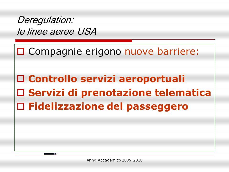 Deregulation: le linee aeree USA