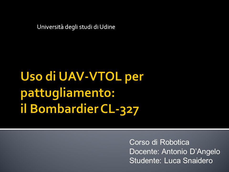 Uso di UAV-VTOL per pattugliamento: il Bombardier CL-327