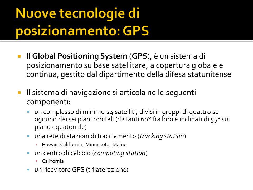 Nuove tecnologie di posizionamento: GPS