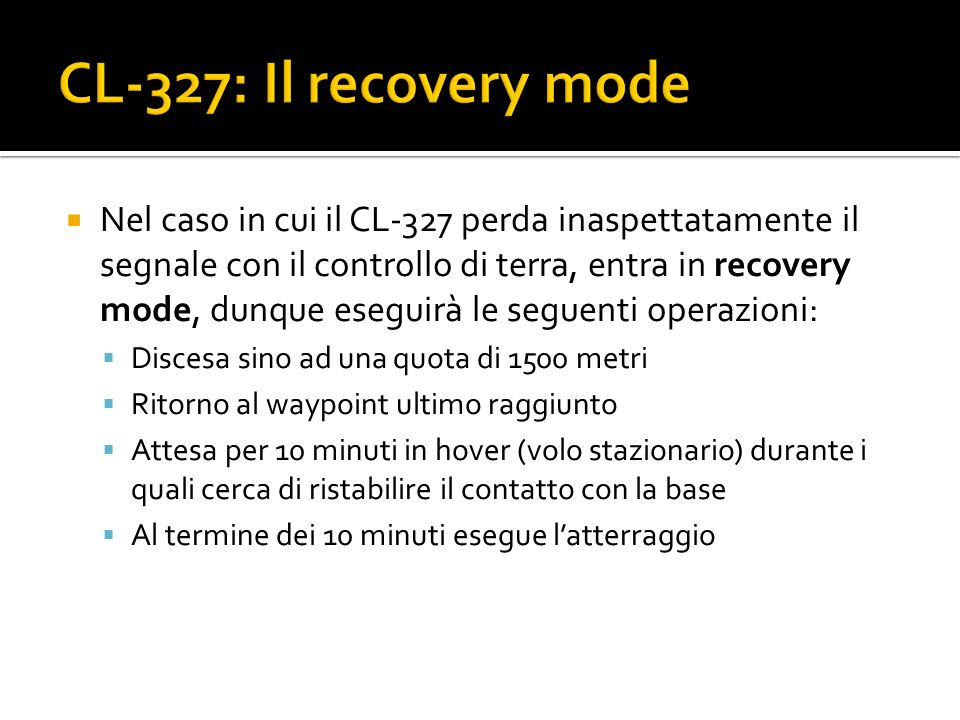 CL-327: Il recovery mode