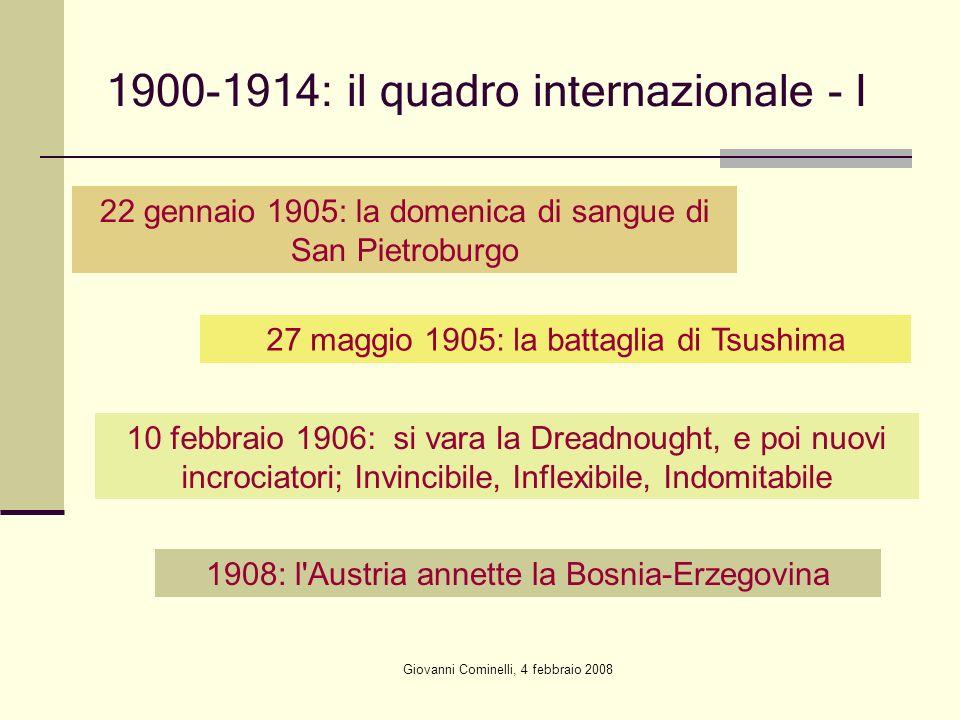 1900-1914: il quadro internazionale - I