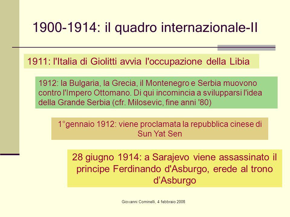 1900-1914: il quadro internazionale-II